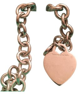 Tiffany & Co. Tiffany & Co. Chain Link Bracelet with Heart Charm