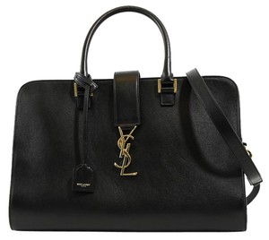 Saint Laurent Ysl Ysl 357396 Ysl Monogram Satchel in Black
