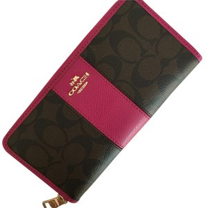 Coach Coach Signature PVC Leather Acc Zip Around Wallet F52859