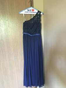 David's Bridal Navy Dress