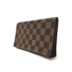 Louis Vuitton Damier Porte Cartes Credit Leather Long Wallet (834)
