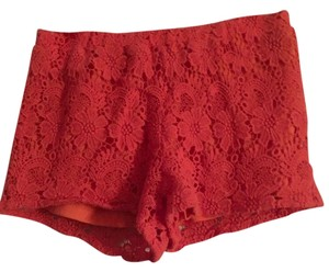 Aeropostale Orange Lace Short Shorts