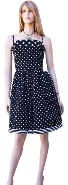 Betsey Johnson Polka Dot New 8 Size 8 Strapless Bow And White Tags Wedding Party Stripes Dress