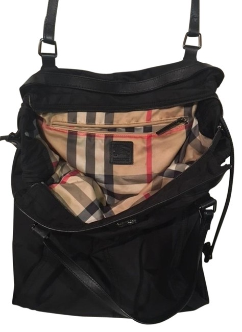 Item - XL Packable Buckleigh Shopper Handbag Lining Black & Nova Plaid Beige Nylon Tote