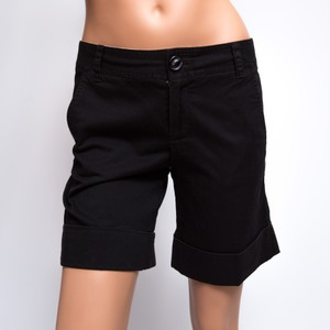 Marc by Marc Jacobs Flat Front Cuffed Bermuda Shorts Black