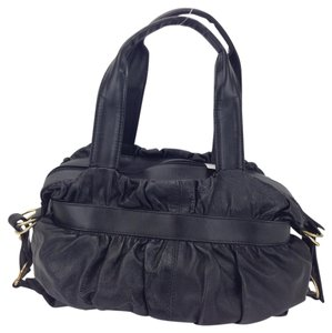 Desmo Leather Ruched Soft Buckles Genuine Shoulder Bag