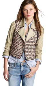 J.Crew Moto Tweed Motorcycle Sz 2 Motorcycle Jacket