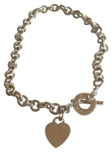Tiffany & Co. Tiffany & Co. Sterling Silver Heart Charm Toggle Necklace
