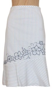 Ann Taylor Embroidered Summer Floral Skirt