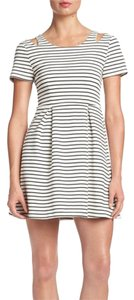 MINKPINK short dress WHITE & BLACK Cutouts Striped on Tradesy