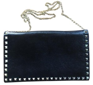 Neiman Marcus Studded black Clutch