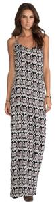 Black, White Maxi Dress by Flynn Skye Tribal Print