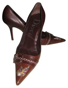 Dior Christian Aviator Stiletto Brown Pumps