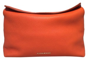 Burberry Leather Foldover orange Clutch