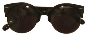 Urban Outfitters Festival Round Black Sunglasses