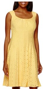London Times short dress Yellow on Tradesy