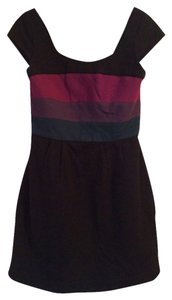 BCBGMAXAZRIA short dress Black Multi Color-blocking on Tradesy