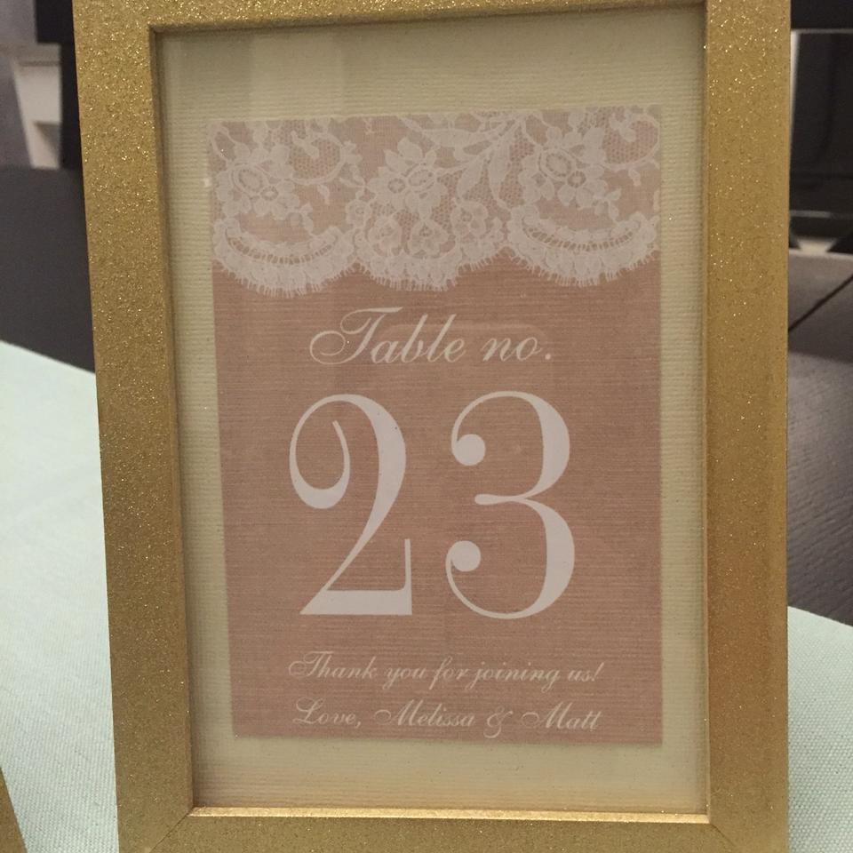 68cffc2441c White and Gold Vintage Decor Table Numbers Other - Tradesy