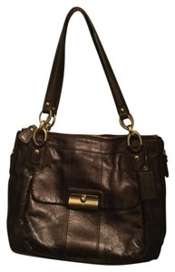 Coach Leather Gold Hardware Shoulder Bag