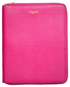 Coach Coach IPad Case in Pink Saffiano Leather