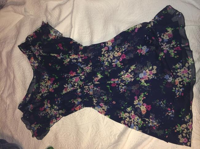 Express short dress Blue/Floral on Tradesy