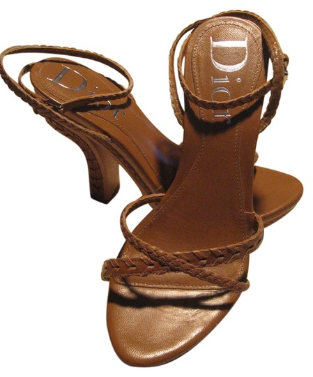 Dior Western Country Christian Cowboy Concho Leather tan Platforms