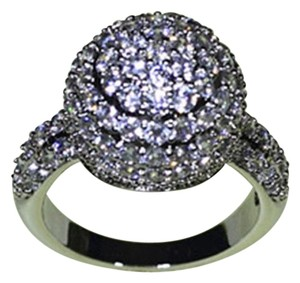 9.2.5 Gorgeous white sapphire royal cluster ball ring size 8