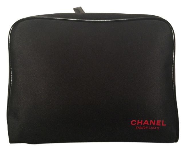 Item - Black and Red Traveling Cosmetic Bag