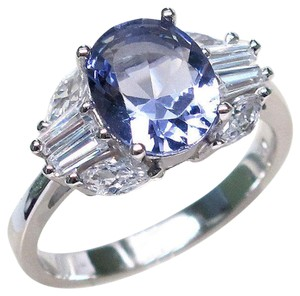 9.2.5 Gorgeous bold Tanzanite and white topaz cocktail ring size 7.