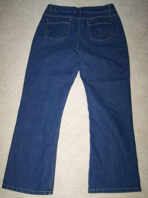Christopher & Banks Size 12 Mid Rise Jeasn Flare Leg Jeans-Dark Rinse