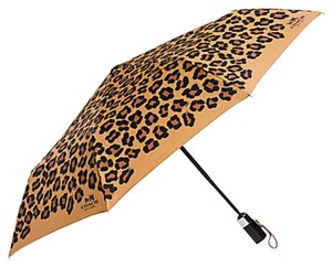 Coach Coach F64150 Umbrella in Sig Ocelot Print Leopard Brown New With Tag