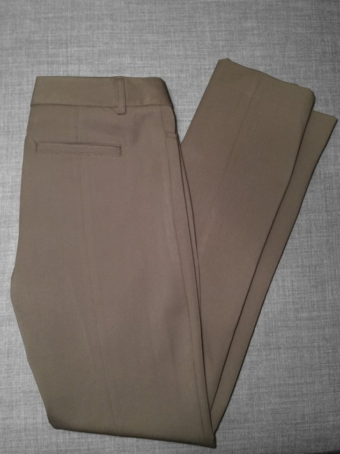 Express Columnist Professional Work Boot Cut Pants Brown Gray