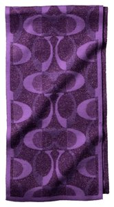 Coach Coach Signature C~Violet Metallic purple~Tonal Dream Knit Scarf~83834