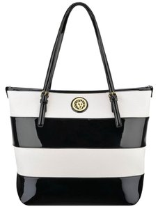Anne Klein Tote in Black & White