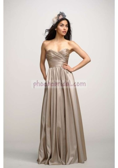 Watters Silver Luminescent Taffeta Buttercup Style # 2736 Sweetheart Neck Ball Gown Formal Bridesmaid/Mob Dress Size 6 (S)