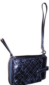 Elliot Lucca Leather Wristlet in Black