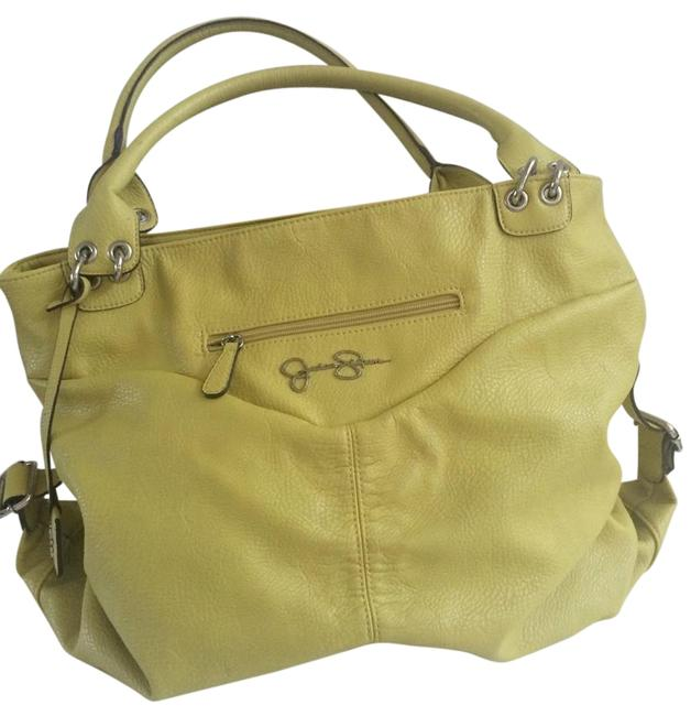 Item - Like New Yellow Green Faux Leather Satchel