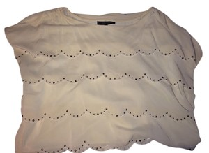 BCBGMAXAZRIA Top Ivory Gold