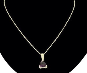 Other 14k yellow gold, petite, Teenagers / Lady's, 0.20 ct. t.w., pink tourmaline birthstone pendant, 20