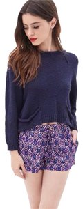 Forever 21 Mini/Short Shorts Navy/Purple