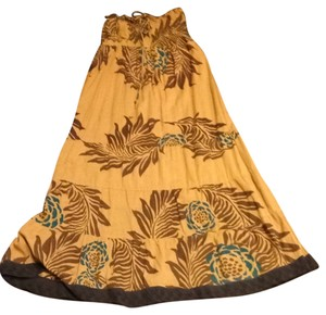 Mustard/Brown Maxi Dress by Charlotte Russe