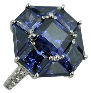 Jean Dousset Jean Dousset 8.14ct Absolute Tanzanite-Color Octagonal Ring - Size 5