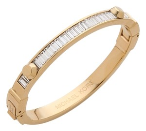 Michael Kors 'Astor' Crystal Baguette Hinged Bangle