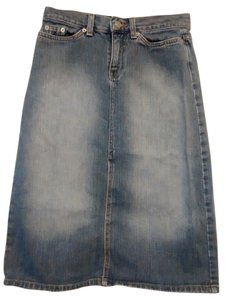 Gap Pensil Skirt Washed blue jeans