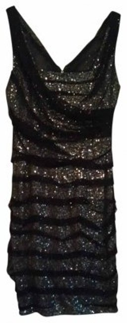Preload https://img-static.tradesy.com/item/16868/express-black-and-silver-never-worn-above-knee-night-out-dress-size-6-s-0-0-650-650.jpg