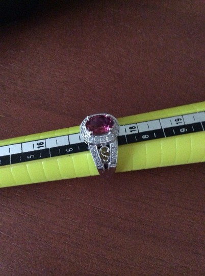 Other 14k Diamond And Oval Pink Tourmaline Ring