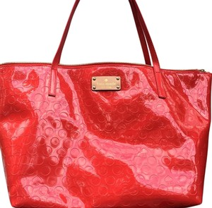 Kate Spade Leather Tote in Red