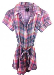 Rojas Shirt Button Down Shirt Purple Plaid