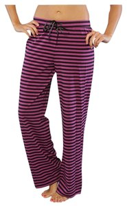Betsey Johnson Sleep Cotton Relaxed Pants purple stripe