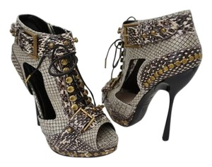 MCQ by Alexander McQueen Stiletto Booties Size 6 Booties Taupe Pumps